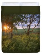 Sunrise On A Farm During The Summer Duvet Cover