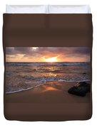 Sunrise On Kauai Coast Duvet Cover