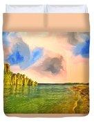 Sunrise On Lake Powell Duvet Cover