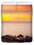Sunrise On The Jetty Texas Duvet Cover