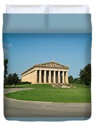 Sunrise On The Parthenon Duvet Cover