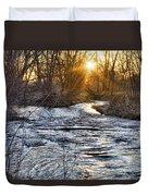 Sunrise On The St Vrain River Duvet Cover