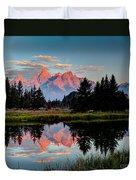 Sunrise On The Tetons Duvet Cover