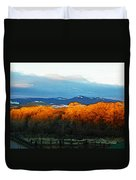 Sunrise On Trees Duvet Cover