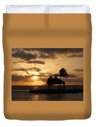 Sunrise Over Bay Duvet Cover