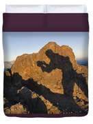 Sunrise Over Death Valley From Dantes Duvet Cover