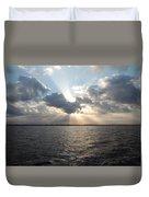 Sunrise Over Keaton Beach Duvet Cover