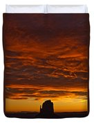 Sunrise Over Monument Valley, Arizona Duvet Cover