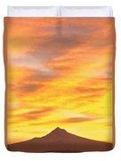Sunrise Over Mount Hood, Portland Duvet Cover
