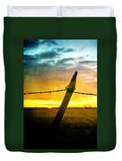 Sunrise Over The Prairie Duvet Cover