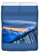 Sunrise Over The Rockies Duvet Cover