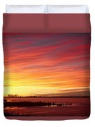 Sunrise Over Union Reservoir In Longmont Colorado Boulder County Duvet Cover