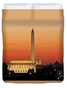 Sunrise Over Washington Dc Duvet Cover