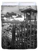 Sunrise Sentinel In Black And White Duvet Cover