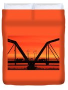 Sunrise Walnut Street Bridge Duvet Cover by Tom and Pat Cory