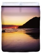 Sunset And Sea Duvet Cover