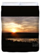 Sunset And Water Duvet Cover