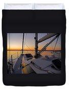 Sunset At Burlington Harbour ... Duvet Cover