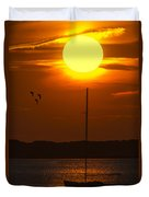 Sunset At Cape Cod Duvet Cover