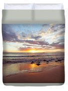 Sunset At Cove Park Duvet Cover