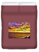 Sunset At Danshui Hdr Duvet Cover