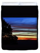 Sunset At Desert View Along The Grand Canyon Duvet Cover
