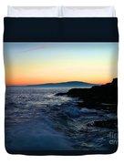Sunset At Schoodic Duvet Cover