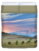 Sunset At The Colorado High Park Wildfire  Duvet Cover