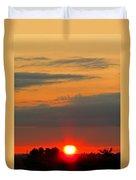 Sunset At The Farm Duvet Cover