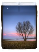 Sunset At The Lake Duvet Cover