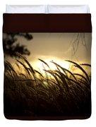 Sunset Behind Tall Grass Duvet Cover