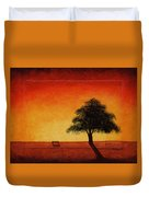 Sunset Bench Duvet Cover