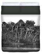 Sunset Black And White Duvet Cover