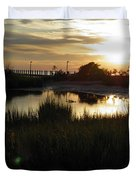 Sunset Cape Charles Virginia Duvet Cover