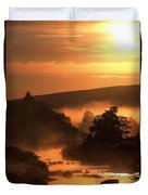 Sunset, Glendalough Glendalough, Co Duvet Cover