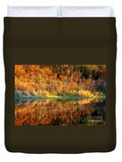 Sunset Glow On The Pond Duvet Cover