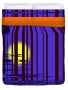 Sunset Grid Duvet Cover