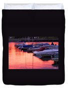 Sunset Harbor Duvet Cover