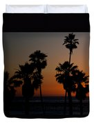 sunset in Califiornia Duvet Cover by Ralf Kaiser