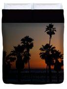 sunset in Califiornia Duvet Cover