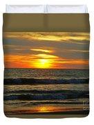 Sunset In Mexico Duvet Cover