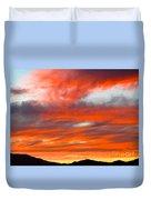 Sunset In Motion Duvet Cover