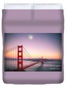 Sunset In San Francisco Duvet Cover