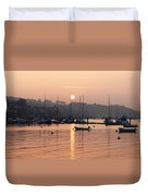 Sunset In The Harbor Crosshaven County Duvet Cover