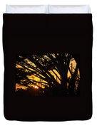 Sunset In The Trees Duvet Cover