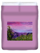 Sunset Lake Duvet Cover