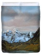 Sunset Maroon Belles Duvet Cover