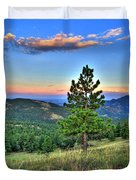 Sunset Mountain Duvet Cover