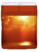 Sunset Near Venice La Duvet Cover