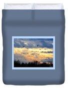 Sunset Of The Hawks Duvet Cover